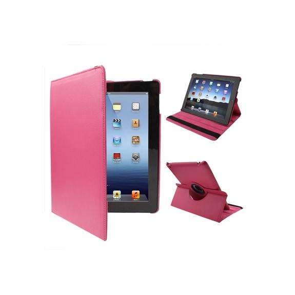 AppleKing pouzdro / kryt s otočným držákem pro iPad 2. / 3. / 4.gen - růžové - možnost vrátit zboží ZDARMA do 30ti dní