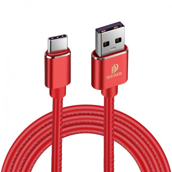AppleKing dux Ducis K-max nabíjecí a datový kabel s lightning a USB-C - červený - možnost vrátit zboží ZDARMA do 30ti dní