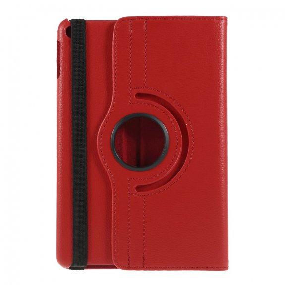 AppleKing pouzdro s texturou kůže pro iPad mini 4 / 5 - červené - možnost vrátit zboží ZDARMA do 30ti dní