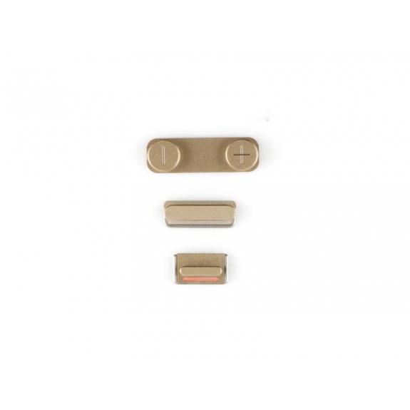 AppleKing náhradní postranní tlačítka pro Apple iPhone 5S (Hlasitost + Zapnutí / vypnutí + Ztlumení) - zlatá (Gold) - možnost vrátit zboží ZDARMA do 30ti dní