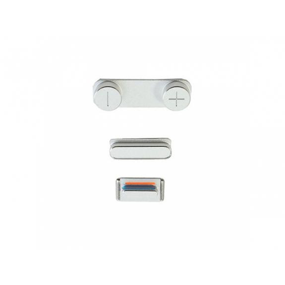 AppleKing náhradní postranní tlačítka pro Apple iPhone 5S (Hlasitost + Zapnutí / vypnutí + Ztlumení) - stříbrná (Silver) - možnost vrátit zboží ZDARMA do 30ti dní