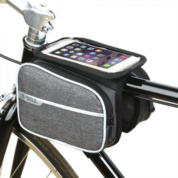 """AppleKing brašna na kolo s prostorem na mobil 6,2"""" - 2l - šedá - možnost vrátit zboží ZDARMA do 30ti dní"""