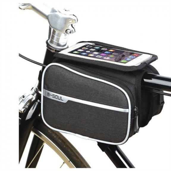 """AppleKing brašna na kolo s prostorem na mobil 6,2"""" - 2l - černá - možnost vrátit zboží ZDARMA do 30ti dní"""