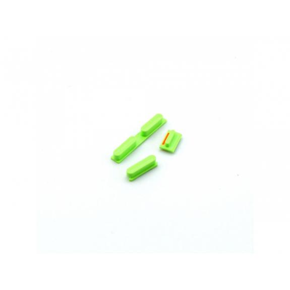 AppleKing náhradní postranní tlačítka pro Apple iPhone 5C (Hlasitost + Zapnutí / vypnutí + Ztlumení) - zelená (Green) - možnost vrátit zboží ZDARMA do 30ti dní
