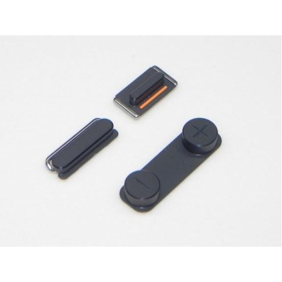 AppleKing náhradní postranní tlačítka pro Apple iPhone 5 (Hlasitost + Zapnutí / vypnutí + Ztlumení) - černá (Black) - možnost vrátit zboží ZDARMA do 30ti dní