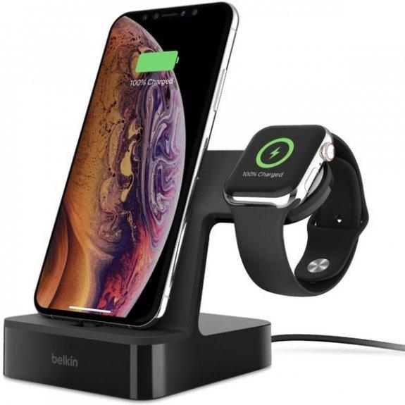 Belkin bezdrátový rychlonabíjecí stojánek pro Apple Watch a iPhone - černý F8J237vfBLK - možnost vrátit zboží ZDARMA do 30ti dní