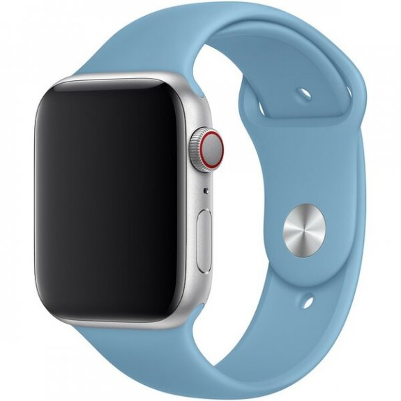 Originální Apple silikonový řemínek pro Watch 44mm - chrpově modrý MV6D2ZM/A - možnost vrátit zboží ZDARMA do 30ti dní