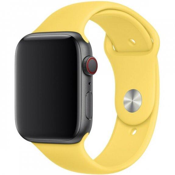 Originální Apple silikonový řemínek pro Watch 44mm - kanárkově žlutý MV6E2ZM/A - možnost vrátit zboží ZDARMA do 30ti dní
