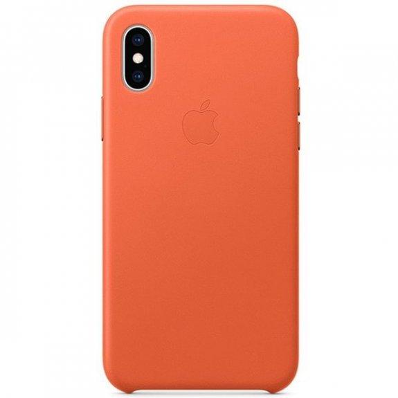 Originální Apple kožený kryt pro iPhone XS - tmavě oranžový MVFQ2ZM/A - možnost vrátit zboží ZDARMA do 30ti dní