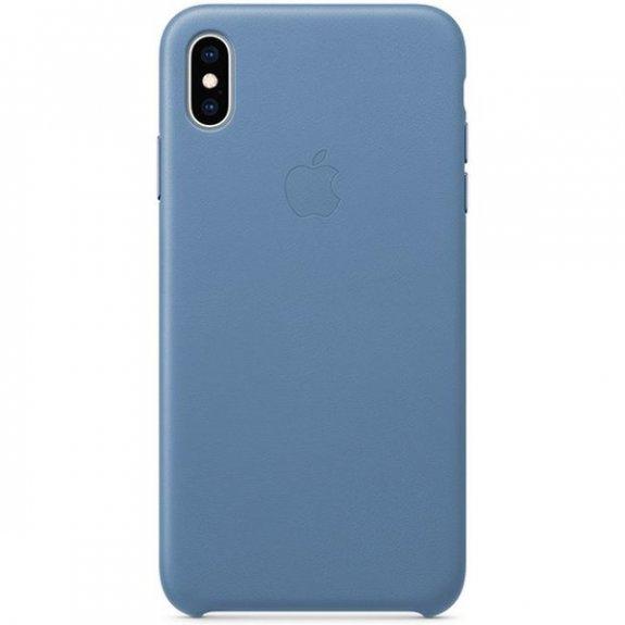 Originální Apple kožený kryt pro iPhone XS Max - chrpově modrý MVFX2ZM/A - možnost vrátit zboží ZDARMA do 30ti dní