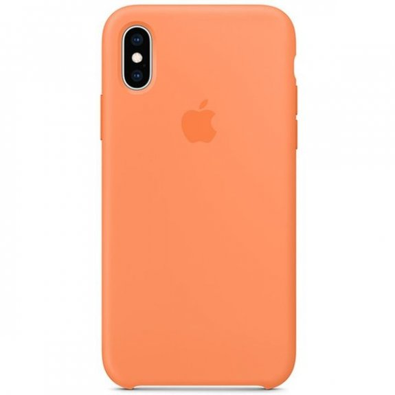Apple silikonový kryt pro iPhone XS - papájový MVF22ZM/A - možnost vrátit zboží ZDARMA do 30ti dní