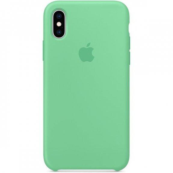 Apple silikonový kryt pro iPhone XS - mátový MVF52ZM/A - možnost vrátit zboží ZDARMA do 30ti dní