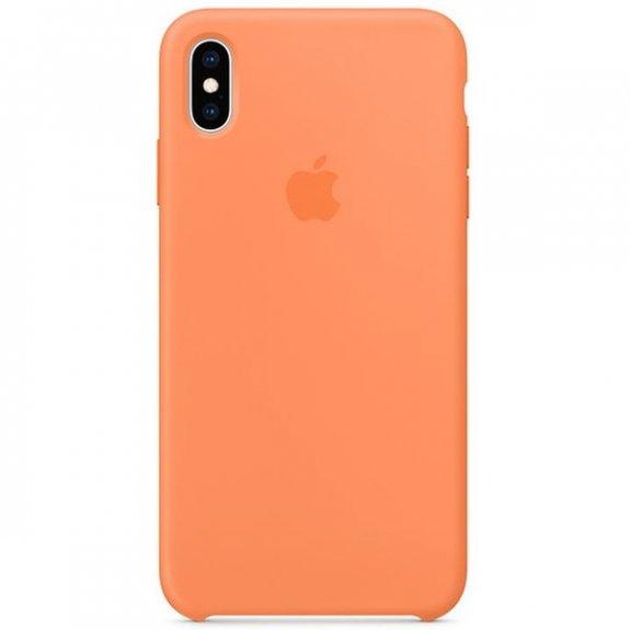 Apple silikonový kryt pro iPhone XS Max - papájový MVF72ZM/A - možnost vrátit zboží ZDARMA do 30ti dní