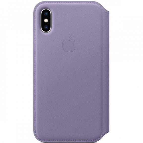 Apple Folio kožené flipové pouzdro pro iPhone XS - šeříkové MVF92ZM/A - možnost vrátit zboží ZDARMA do 30ti dní