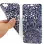 Otevírací / flip gumové pouzdro pro iPhone 6 / 6S - květinová kresba