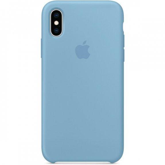 Apple silikonový kryt pro iPhone XS - chrpově modrý MW982ZM/A - možnost vrátit zboží ZDARMA do 30ti dní