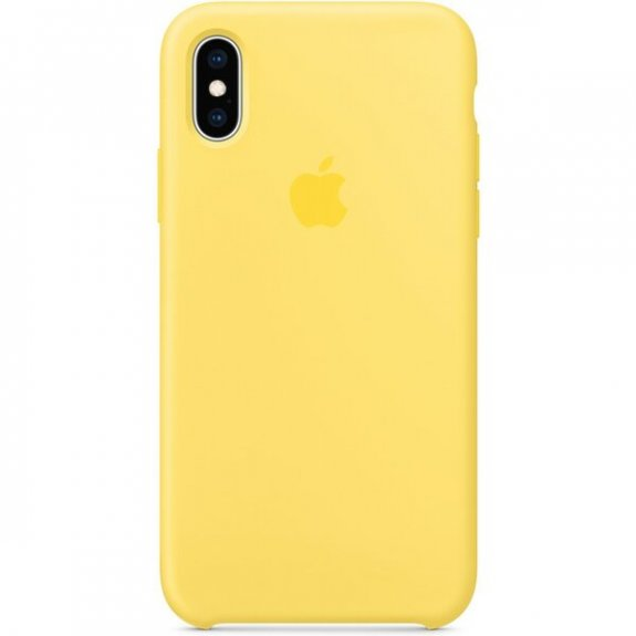 Apple silikonový kryt pro iPhone XS - kanárkově žlutý MW992ZM/A - možnost vrátit zboží ZDARMA do 30ti dní
