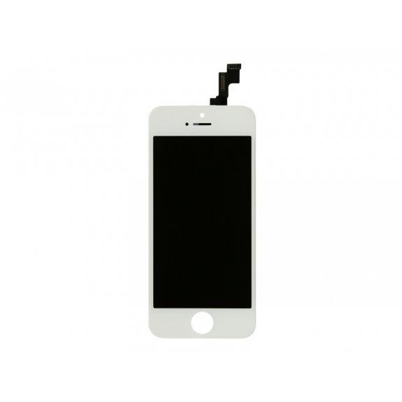 Náhradní LCD displej s dotykovým sklem a rámečkem pro Apple iPhone 5S - bílý - možnost vrátit zboží ZDARMA do 30ti dní