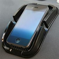 Univerzální přilnavý držák / podložka do automobilu pro iPhone - černý