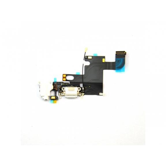 AppleKing napájecí a datový konektor s jack konektorem a flex kabelem pro Apple iPhone 6S - bílá - možnost vrátit zboží ZDARMA do 30ti dní