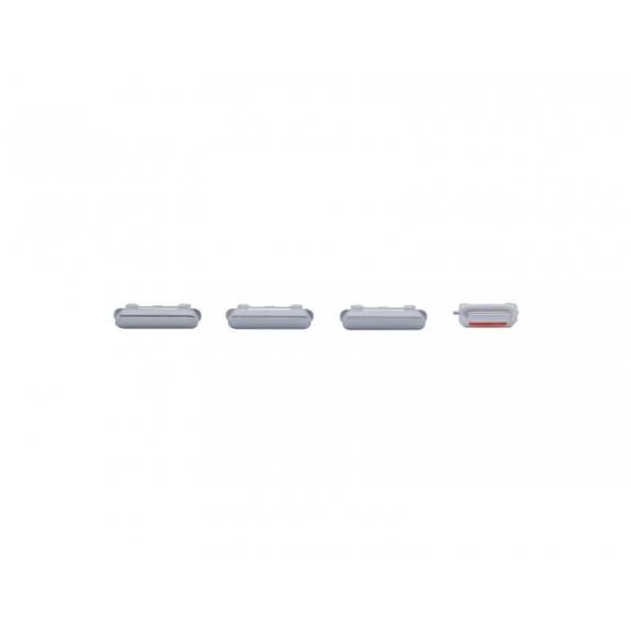 AppleKing náhradní postranní tlačítka pro Apple iPhone 6S (Hlasitost + Zapnutí / vypnutí + Ztlumení) - vesmírně šedá (Space Gray) - možnost vrátit zboží ZDARMA do 30ti dní