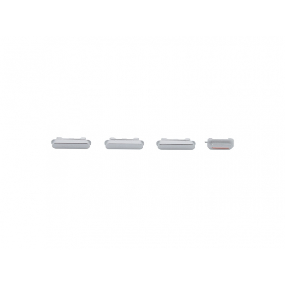 AppleKing náhradní postranní tlačítka pro Apple iPhone 6S (Hlasitost + Zapnutí / vypnutí + Ztlumení) - stříbrná (Silver) - možnost vrátit zboží ZDARMA do 30ti dní