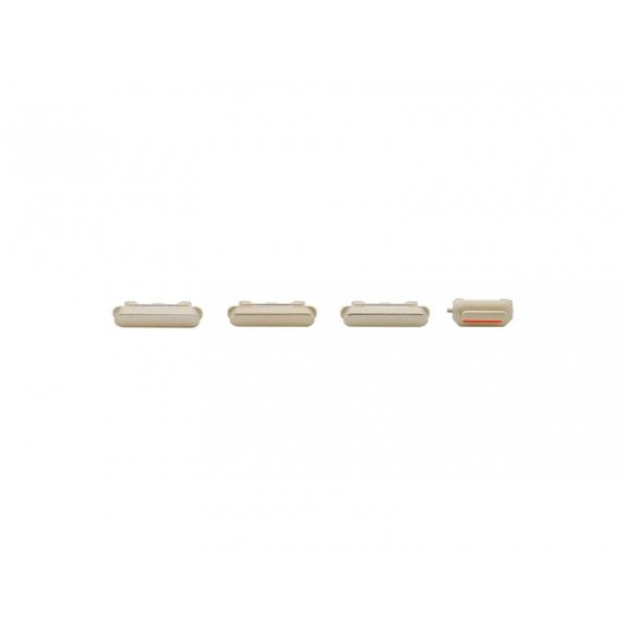 AppleKing náhradní postranní tlačítka pro Apple iPhone 6S (Hlasitost + Zapnutí / vypnutí + Ztlumení) - zlatá (Gold) - možnost vrátit zboží ZDARMA do 30ti dní