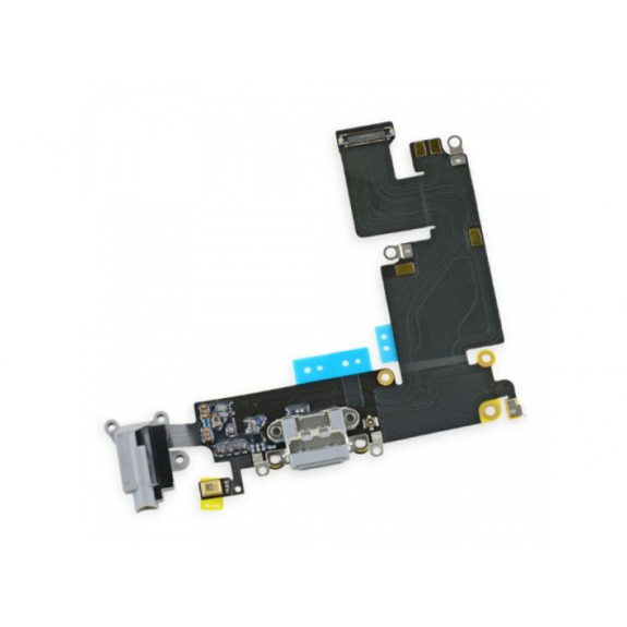 AppleKing napájecí a datový konektor s jack konektorem a flex kabelem pro Apple iPhone 6S Plus - vesmírně šedá (Space Gray) - možnost vrátit zboží ZDARMA do 30ti dní