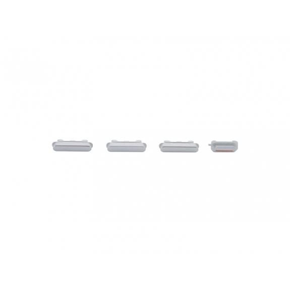 AppleKing náhradní postranní tlačítka pro Apple iPhone 6S Plus (Hlasitost + Zapnutí / vypnutí + Ztlumení) - stříbrná (Silver) - možnost vrátit zboží ZDARMA do 30ti dní
