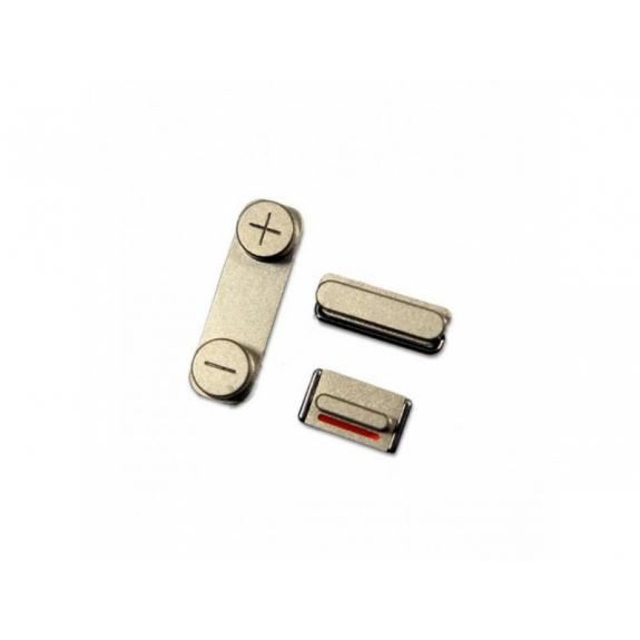 AppleKing náhradní postranní tlačítka pro Apple iPhone SE (Hlasitost + Zapnutí / vypnutí + Ztlumení) - zlatá (Gold) - možnost vrátit zboží ZDARMA do 30ti dní