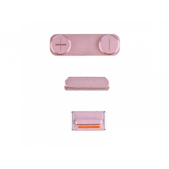 AppleKing náhradní postranní tlačítka pro Apple iPhone SE (Hlasitost + Zapnutí / vypnutí + Ztlumení) - růžově zlatá (Rose Gold) - možnost vrátit zboží ZDARMA do 30ti dní