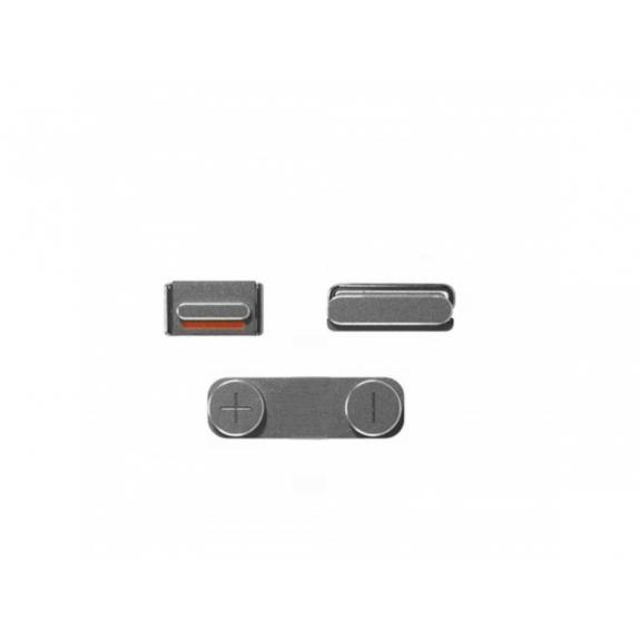 AppleKing náhradní postranní tlačítka pro Apple iPhone SE (Hlasitost + Zapnutí / vypnutí + Ztlumení) - stříbrná (Silver) - možnost vrátit zboží ZDARMA do 30ti dní
