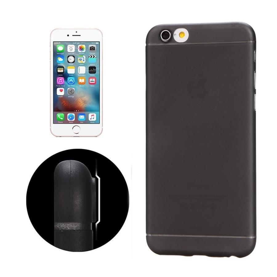 Ultra tenký plastový kryt pro iPhone 6   6S - s ochranou zadní kamery -  černý ... 7db3333b1a3