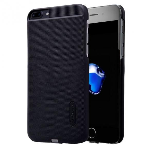 NILLKIN 2v1 magický kryt / obal pro Qi bezdrátové nabíjení Apple iPhone 8 Plus / 7 Plus - protiskluzový - černý - možnost vrátit zboží ZDARMA do 30ti dní