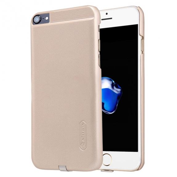 NILLKIN 2v1 magický kryt / obal pro Qi bezdrátové nabíjení Apple iPhone 8 / 7 - protiskluzový - zlatý - možnost vrátit zboží ZDARMA do 30ti dní