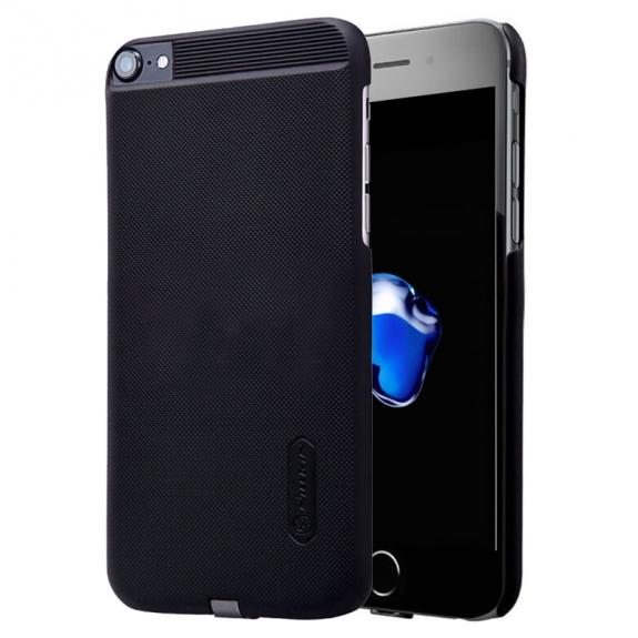 NILLKIN 2v1 magický kryt / obal pro Qi bezdrátové nabíjení Apple iPhone 8 / 7 - protiskluzový - černý - možnost vrátit zboží ZDARMA do 30ti dní