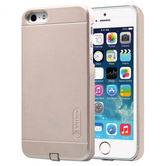 NILLKIN 2v1 magický kryt / obal pro Qi bezdrátové nabíjení Apple iPhone 5 / 5S / SE - protiskluzový - zlatý - možnost vrátit zboží ZDARMA do 30ti dní