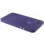 Ultra tenký (0.3mm) poloprůhledný matný kryt pro iPhone 5 / 5S / SE - fialový