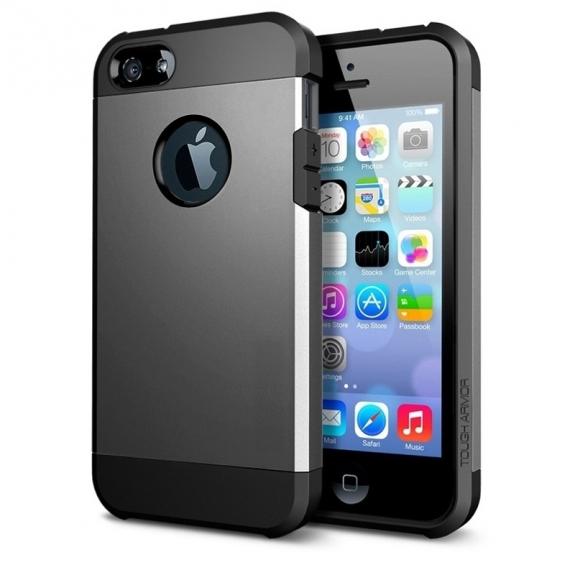 """AppleKing super odolný """"Armor"""" kryt pro iPhone 5 / 5S / SE - šedý - možnost vrátit zboží ZDARMA do 30ti dní"""
