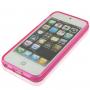 Ochranný poloprůhledný kryt pro iPhone 5 / 5S / SE - růžový