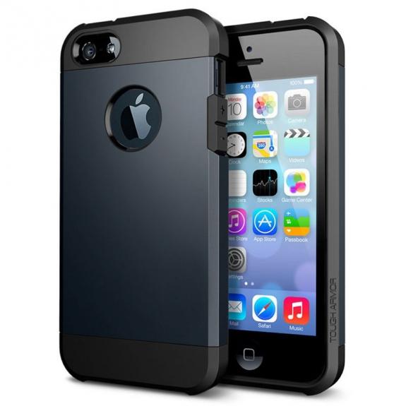 """Super odolný """"Armor"""" kryt pro iPhone 5 / 5S / SE - tmavě modrý"""