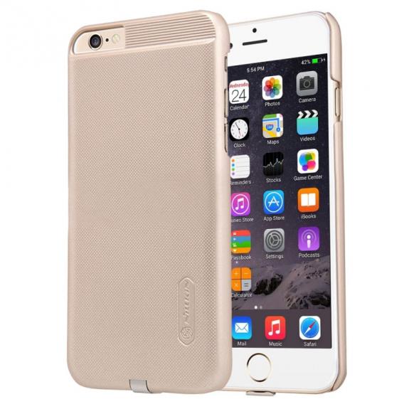 NILLKIN 2v1 magický kryt / obal pro Qi bezdrátové nabíjení Apple iPhone 6 / 6S - protiskluzový - zlatý - možnost vrátit zboží ZDARMA do 30ti dní