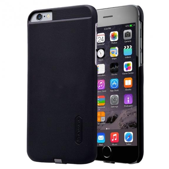 NILLKIN 2v1 magický kryt / obal pro Qi bezdrátové nabíjení Apple iPhone 6 / 6S - protiskluzový - černý - možnost vrátit zboží ZDARMA do 30ti dní