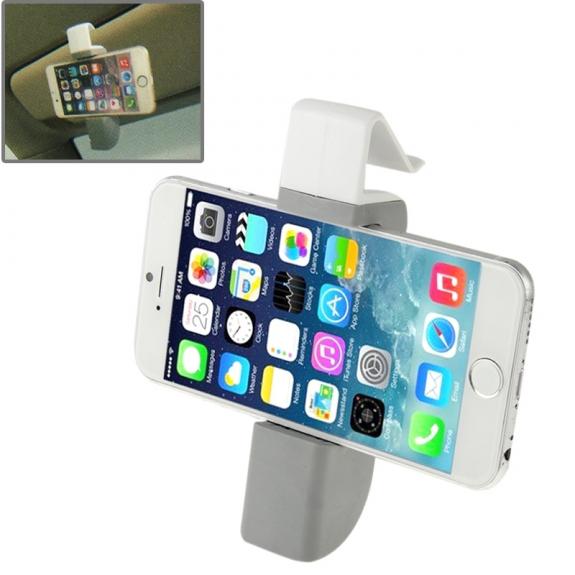 AppleKing univerzální 360° otočný držák na ventilační mřížku a sluneční clonu automobilu pro Apple iPhone a další zařízení - šedý - možnost vrátit zboží ZDARMA do 30ti dní