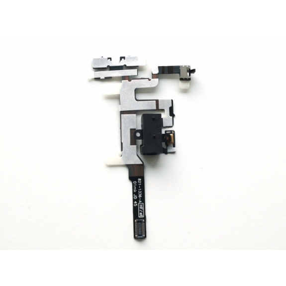 AppleKing flex kabel s Audio Jack konektorem, tlačítky hlasitosti a tlačítkem ztlumení pro Apple iPhone 4S - černý - možnost vrátit zboží ZDARMA do 30ti dní