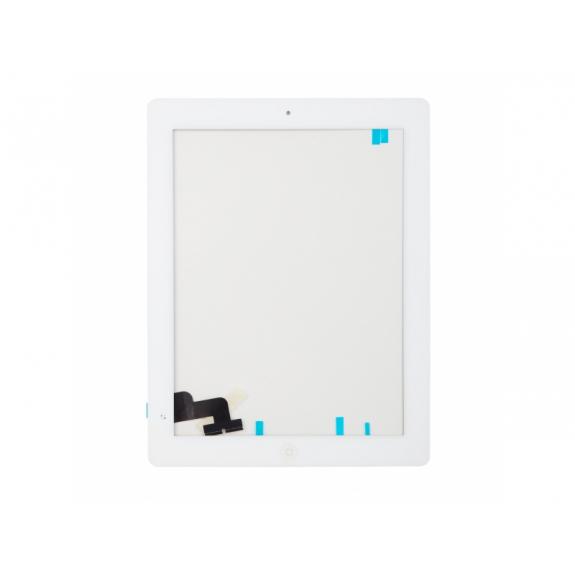 AppleKing přední dotykové sklo (touch screen) pro Apple iPad 2 s tlačítkem Home Button a lepidlem - bílé - možnost vrátit zboží ZDARMA do 30ti dní