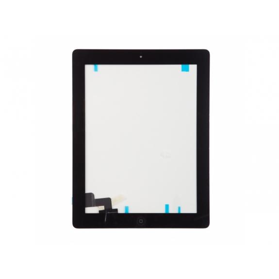 AppleKing přední dotykové sklo (touch screen) pro Apple iPad 2 s tlačítkem Home Button a lepidlem - černé - možnost vrátit zboží ZDARMA do 30ti dní