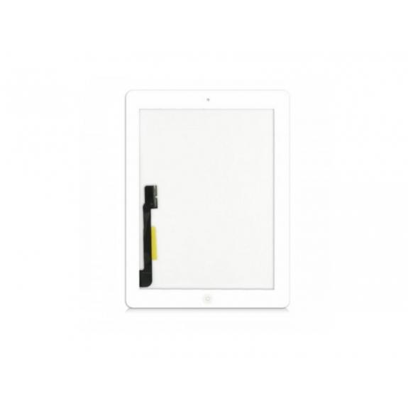 AppleKing přední dotykové sklo (touch screen) pro Apple iPad 3 s tlačítkem Home Button a lepidlem - bílé - možnost vrátit zboží ZDARMA do 30ti dní