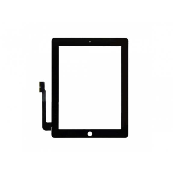 AppleKing přední dotykové sklo (touch screen) pro Apple iPad 3 s tlačítkem Home Button a lepidlem - TOP kvalita - černé - možnost vrátit zboží ZDARMA do 30ti dní