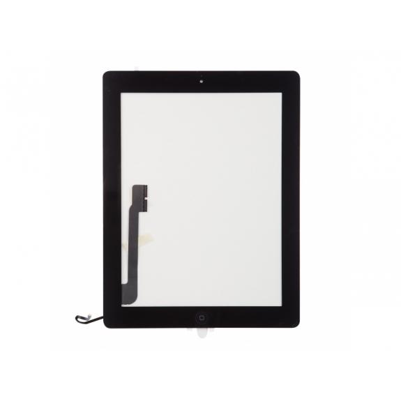 AppleKing přední dotykové sklo (touch screen) pro Apple iPad 4 s tlačítkem Home Button a lepidlem - černé - možnost vrátit zboží ZDARMA do 30ti dní
